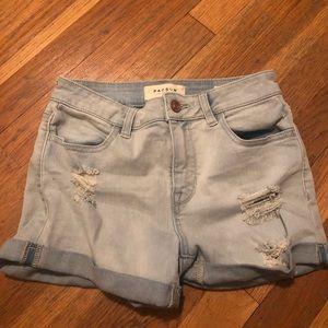 Lightwash jean shorts